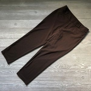 Michael Kors Brown Fitted Pants Women's 10 R40